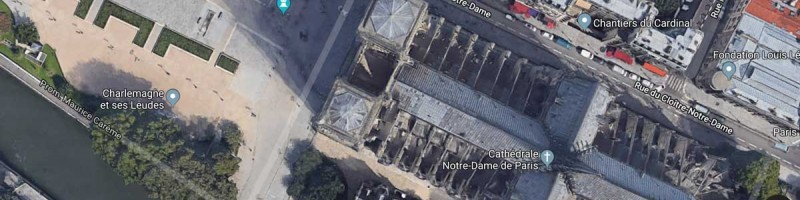 GoogleMaps and Notre-Dame de Paris fire