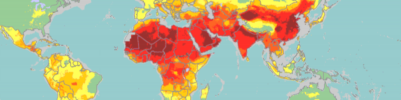 Map of global ambient air pollution